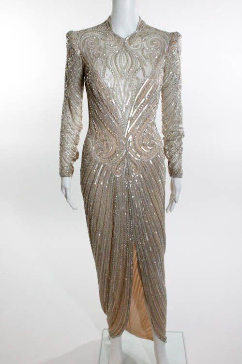 BOB MACKIE glamour white gown - $199