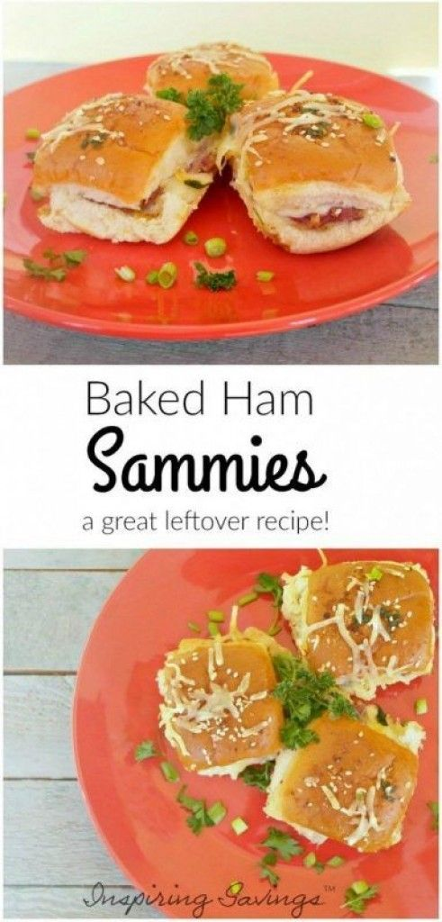 Baked Ham Sandwiches like this simple recipe are ideal for using up leftovers or making a simple ham sandwich upscale and fun to eat! Perfect Leftover Ham Recipe