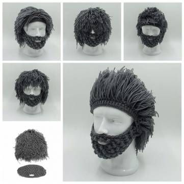 Unisex Periwig Beard Mask Warm Winter Hat Men Women Funny Party Knit Beanie Cap Sale - Banggood Mobile