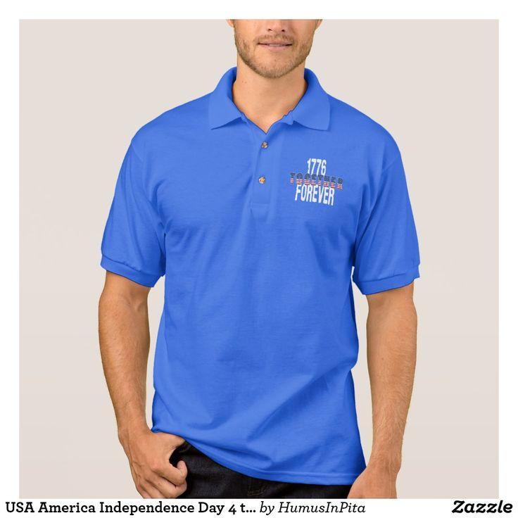 USA America Independence Day 4 th  July Patriotic Polo Shirt