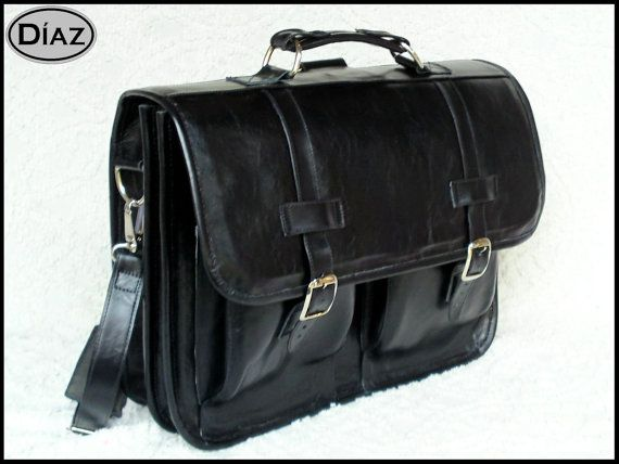 Large Leather Messenger Briefcase / Backpack Laptop by DiazBags, $245.00