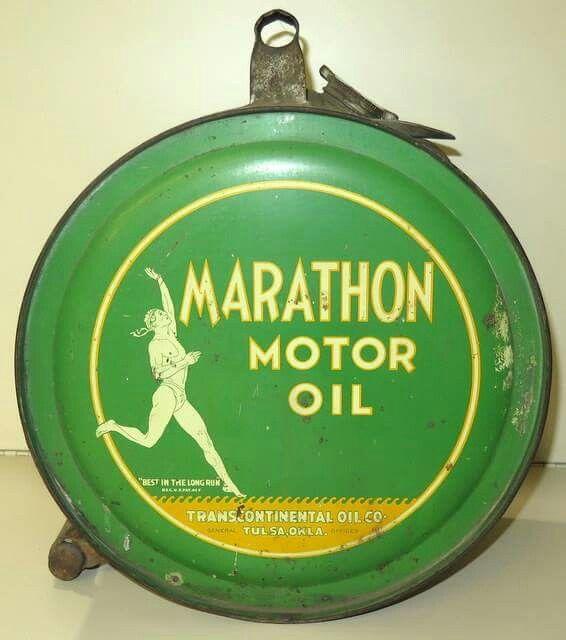 Marathon Motor Oil Rocker Can