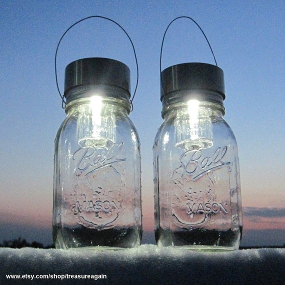 solar powered mason jar lights