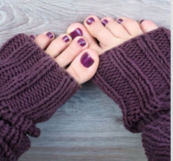 Plum pedicure colors are great for fall!  #manicure #pedicure #nails #asheville #fall