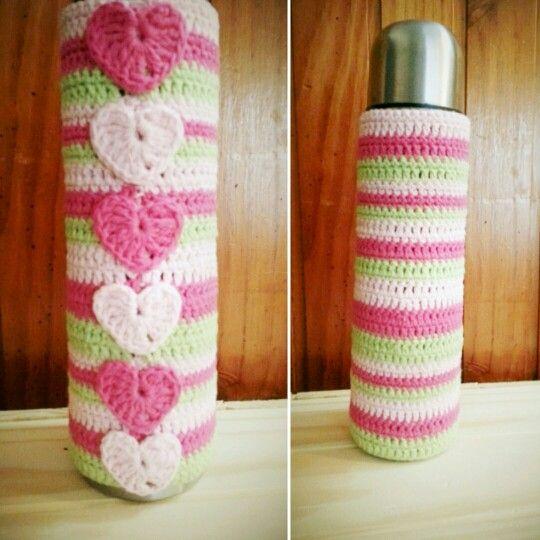 Termo con funda tejida a crochet!