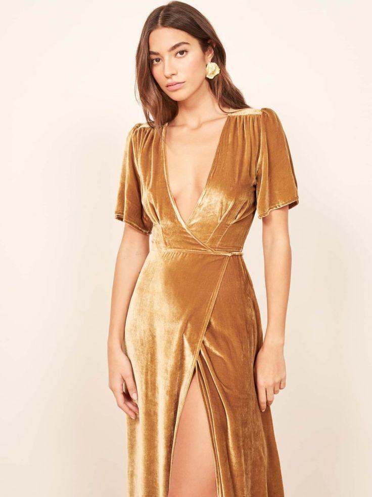 Velvet Bridesmaid Dresses Gold
