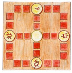 Nyout (Korean for Horses) is a Korean game dating back to the 3rd century. Link has directions on how to play