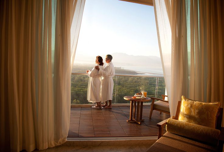 Enjoy all Vidanta has to offer including memorable views of the Sierra Madre Mountains and the Pacific Ocean from a terrace at Grand Luxxe Nuevo Vallarta!