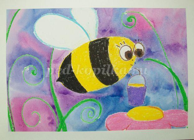 Урок рисования в средней группе детского сада