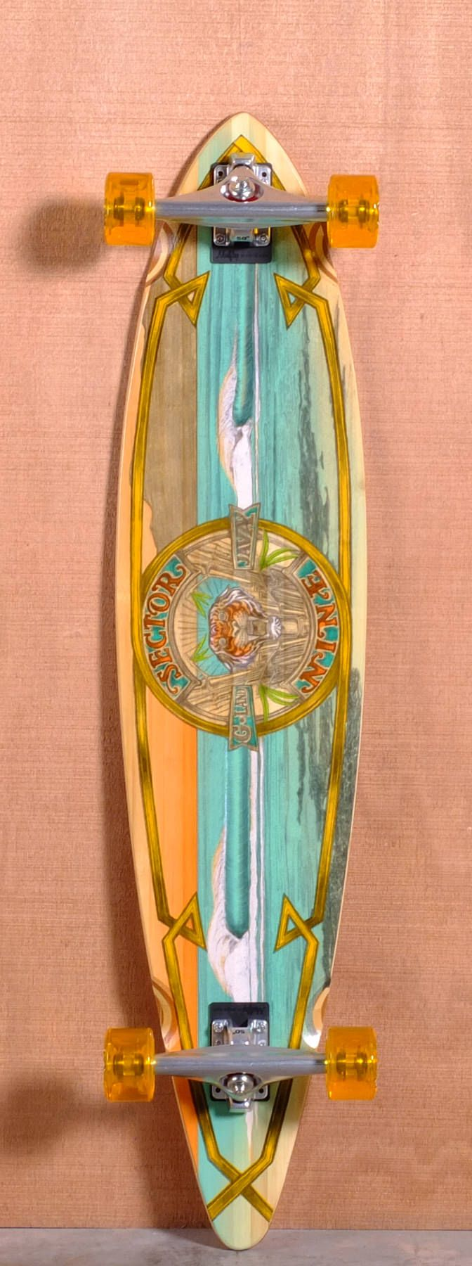 """Sector 9 44"""" G-Land Bamboo Longboard Complete $194.00 exclusively sold on The Longboard Store"""