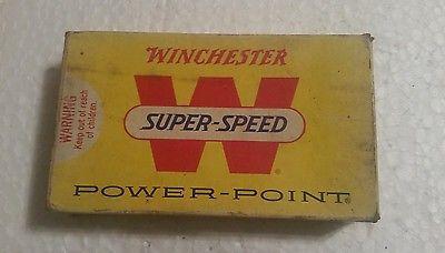 RARE! VINTAGE WINCHESTER SUPER-SPEED 303 BRITISH - POWER POINT - AMMO BOX!