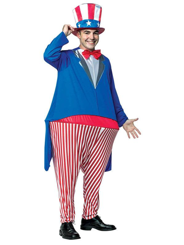 Check out Uncle Sam Adult Hoopster Costume from Wholesale Halloween Costumes