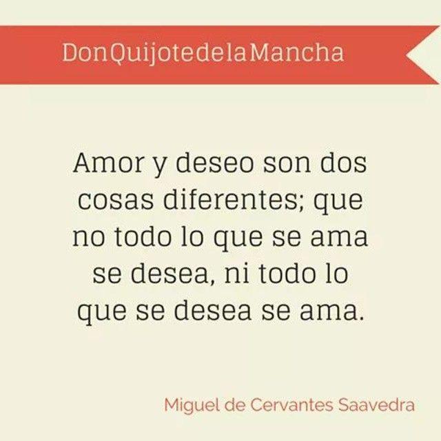 Amor y deseo son dos cosas diferentes..