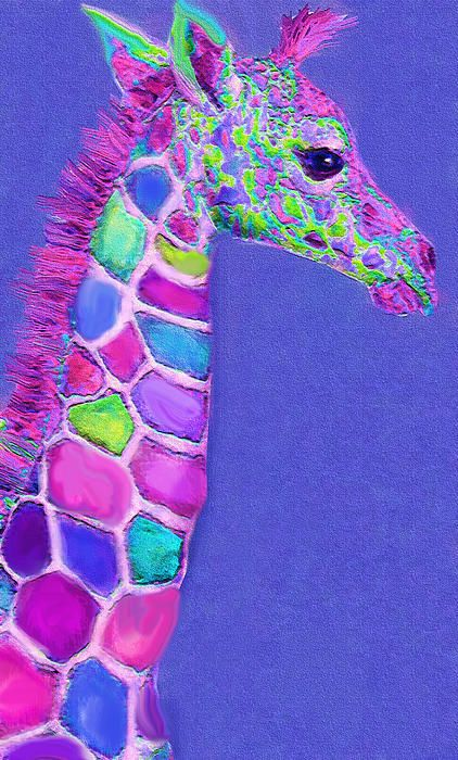 pink and blue giraffe