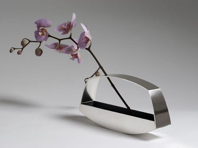 Angela Cork - Silver Landscape Vase