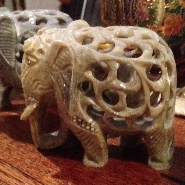 Ivory Elephant With Baby Inside Ivory Vintage Only