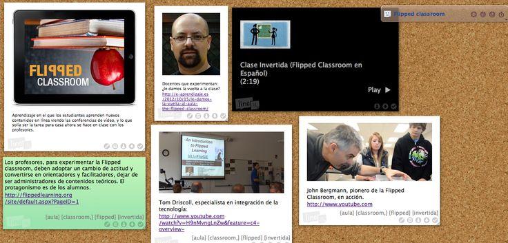 Ideas clave y breves referencias sobre la Flipped classroom en un tablero: http://linoit.com/users/MGCollado/canvases/Flipped%20classroom