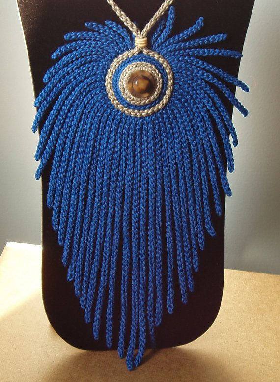 Big crochet necklace by iceice on Etsy.