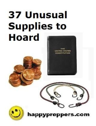 What's in your survival cabinets, garage or locker? Sure you've got shelf stable meals, security devices, excess toilet paper and seeds for the future, but what haven't you thought about? Consider the Happy Prepper list of the 37 most unusual survival tools to hoard while they are still available!  http://www.happypreppers.com/37.html: