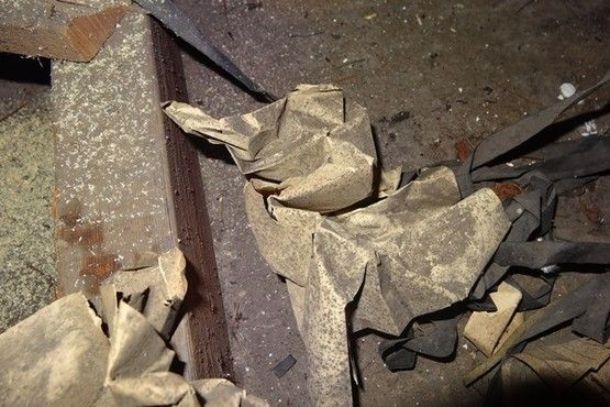 Alan Turing's notes found scrunched up in the wooden panels in the roof of Hut 6