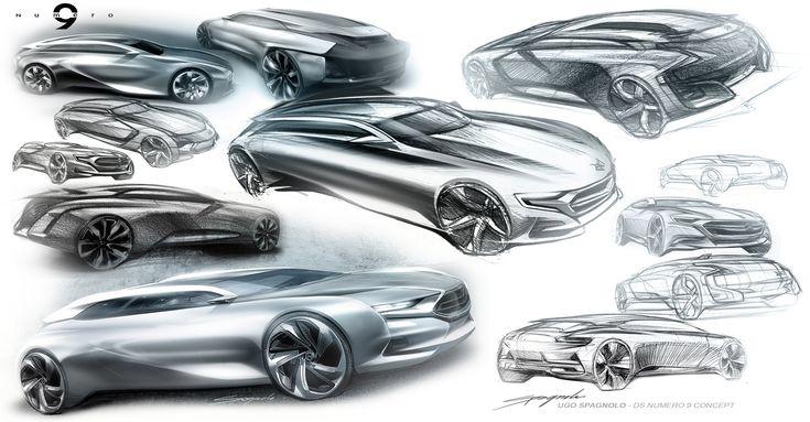 Citroen Numero 9 Concept Design Sketches
