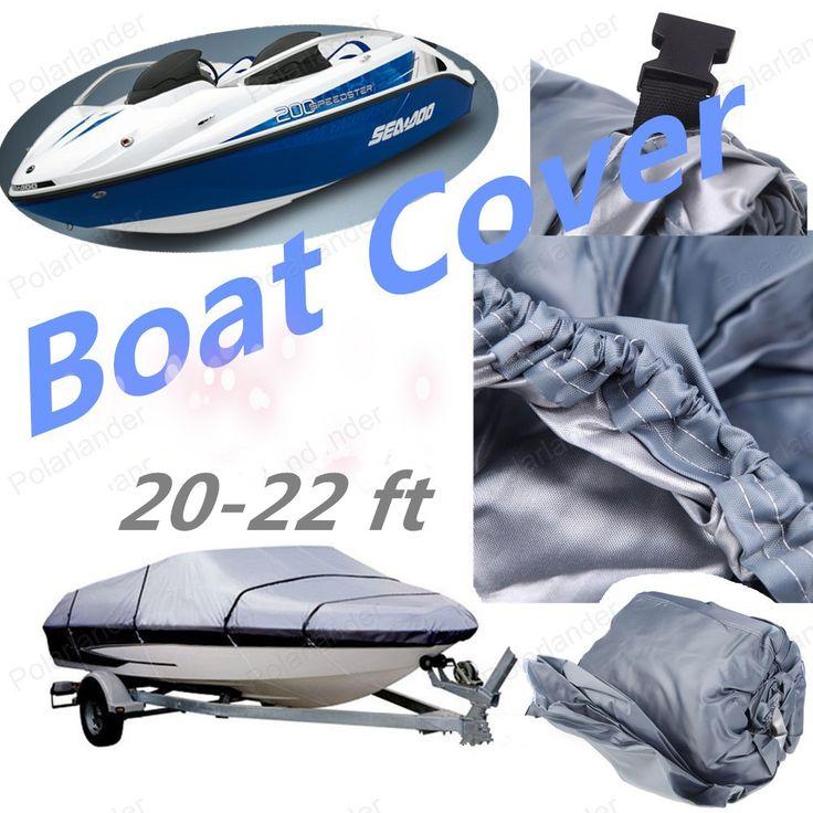 Nueva Cubierta Del Barco de Pesca Accesorios Lancha V-casco Con Protección UV de tela 210D 20-22ft Sunproof Impermeable
