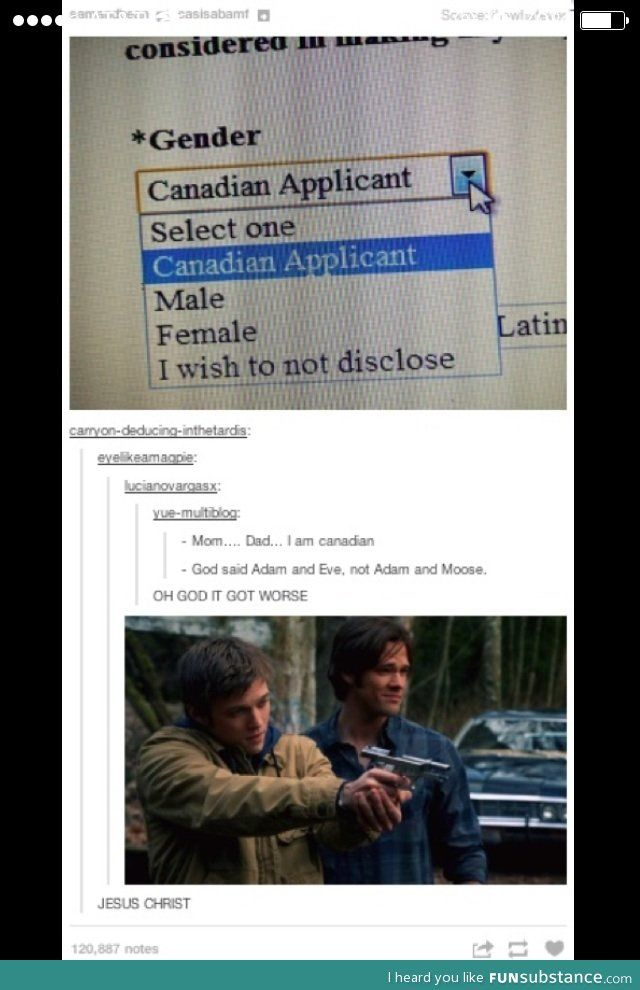 Are you male, female, or Canadian?