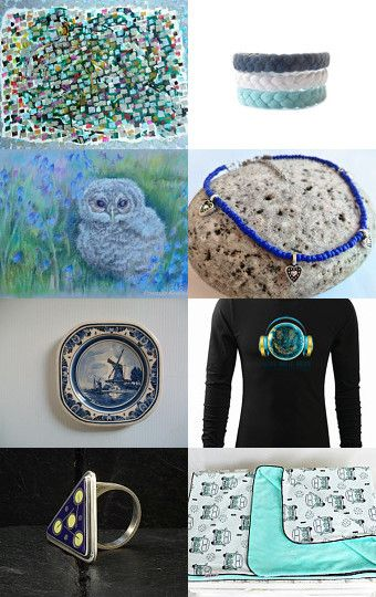 Green and blue August by Kropka on Etsy--Pinned with TreasuryPin.com