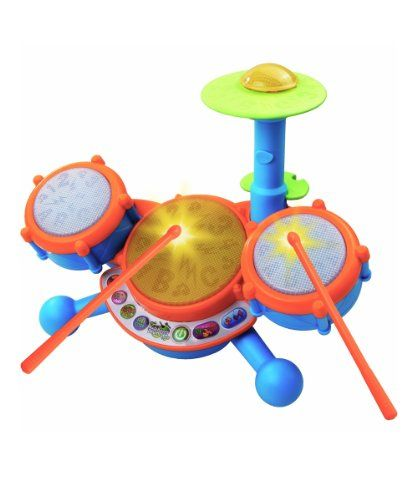 Your child can rock out and learn with the VTech KidiBeats Drum Set! This drum set for kids comes with a pair of drumsticks that can be used...