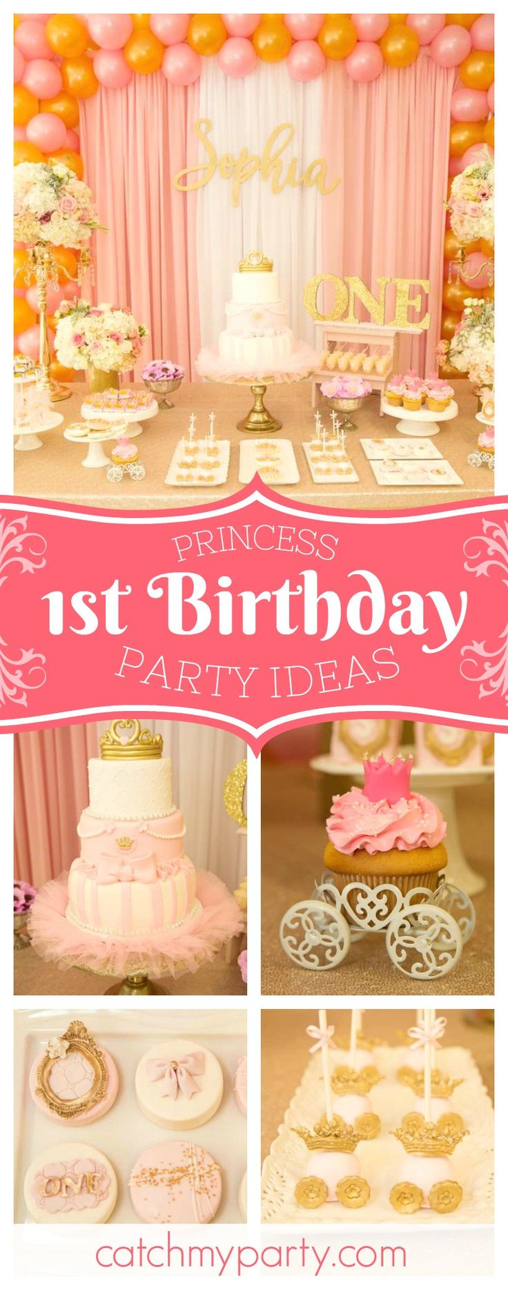 Don't miss this wonderful vintage princess birthday party! The birthday cake is stunning!! See more party ideas and share yours at CatchMyParty.com