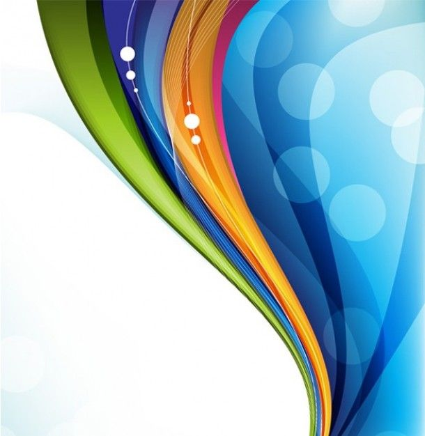 Colorful Wave Vertical Abstract Design Background