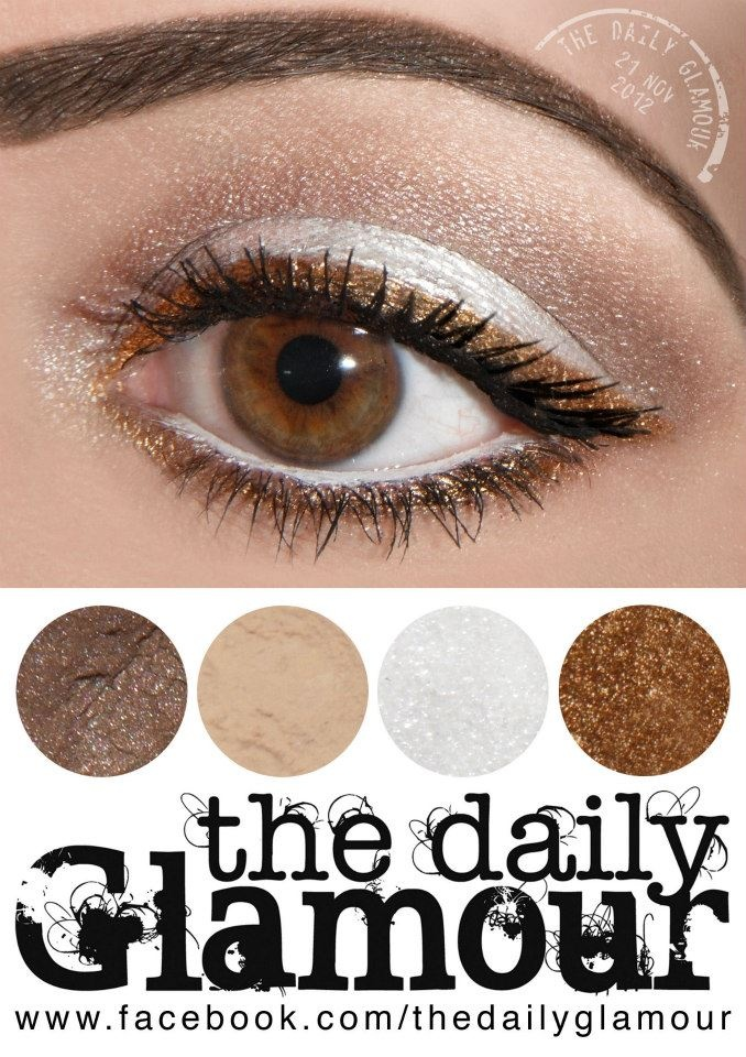 This look made my eyes POP! I substituted a flesh colored eyeliner for everywhere the white is