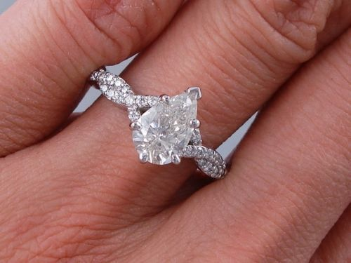 Pear Diamond Ring  Carat