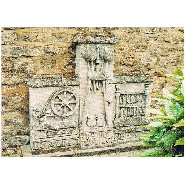 Lacemaking Sculpture from The Lace Factory, Olney ~ #postcard on #eBid United Kingdom