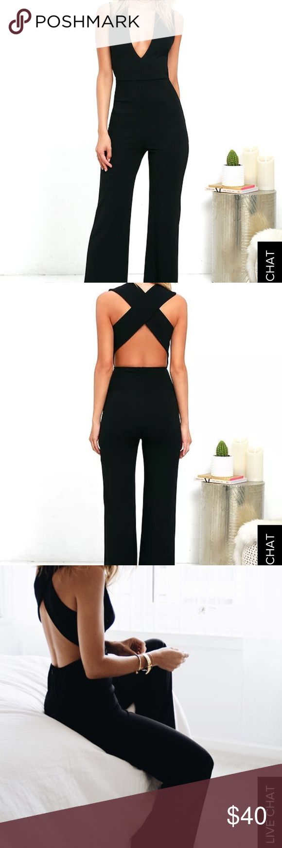 NWT Black Jumpsuit Brand new with tags. Lulu's Thinking Out Loud Black Jumpsuit. Lulu's Dresses