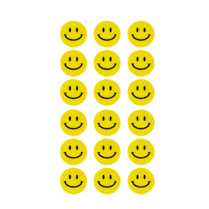 180 Smiley Sticker Aufkleber Lächeln Emoji Smily Face Faces - gelb in Spielspass / Basteln  • Sticker • Smiley Sticker