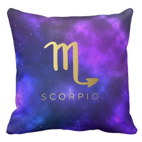 Scorpio Zodiac Sign Custom Throw Pillow Home Decor
