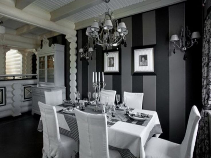white and grey dining room ~ descargas-mundiales
