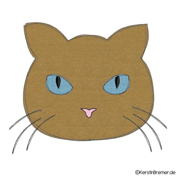 Katzenkopf Doodle Stickdatei
