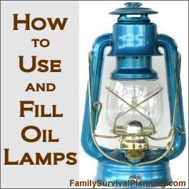 You may not think there's much to learn about filling and using an oil lamp, but there are some little tips and tricks to make the job easy....