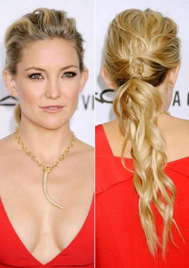 The 12 Best Holiday Hair Looks - Do the Twist as seen on Kate Hudson