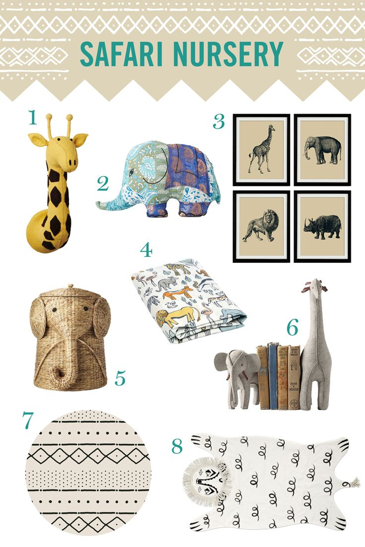 Looking to create a safari nursery? We have lots of African themed decor ideas to make your baby's room chic and inspiring.