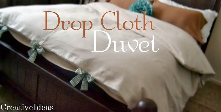 How I'm making my home cozy this winter is with making a Drop Cloth Duvet for my down comforter! It was very easy to make. The hardest part of this project was lifting it! I used two 9 x 12 drop...