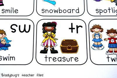 Fichiers enseignants de coccinelle: Consonant Blends Graphique {} imprimable