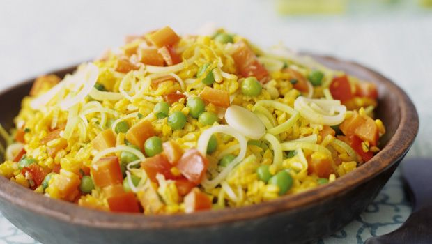 Saffron And Orange Rice Pilaf With Orzo And Pine Nuts Recipe ...