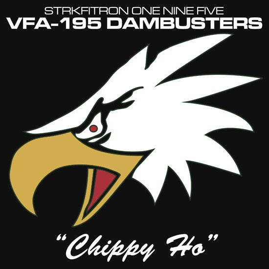 VFA-195 DAMBUSTERS UNITED STATES NAVY STRIKE FIGHTER SQUADRON T-SHIRTS