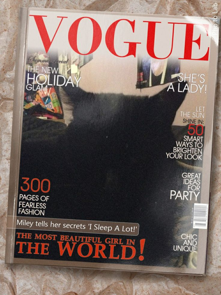 Miley on Vogue xD My Cat❤