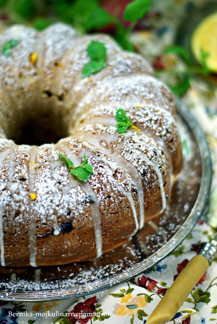 easter cake with lemon curd