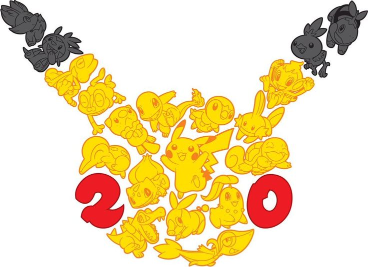 WOOOOOO POKEMON 20!!!!!!! Coming February 27th, Pokemon is celebrating their 20 anniversary!!!! There will be many things released as well. Such things include a special 20th anniversary pikachu plush at game stop, special Pokemon distributions, and promo boxes of mythical Pokemon! There will also be a special Pokemon 20th anniversary commercial during the super bowl! So stay tuned for celebrating 20 YEARS OF POKEMON!!!!!!!