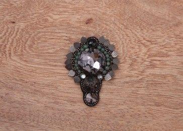 Felix gem crystal brooch pin#shop online.